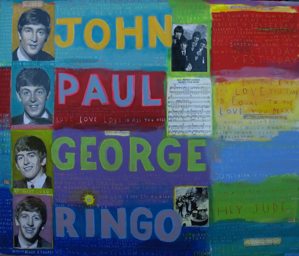 David McGough painting Beatles 5