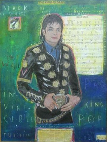 David McGough painting Michael