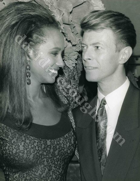 Iman And David Bowie 1...