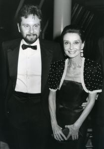 Audrey Hepburn and son Sean Ferrer 1987, NY.jpg