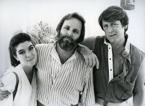 Beach Boys, Brian and Carl Wilson and Gina Martin 1985.jpg