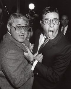 Buddy Hackett and Jerry Lewis 1986, NY.jpg