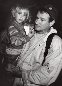 Robin Williams and son, Zach 1987, Los Angeles.jpg