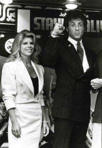 Sylvester Stallone, wife 1983 NYC.jpg