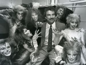 Tom Selleck with cast of Cats 1983 NY..jpg