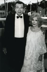 Walter Matthau and wife Carol 1983, LA.jpg