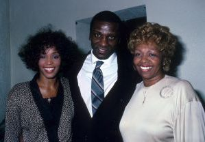 Whitney Houston with brother and mom, Cissy 1988, NY.jpg